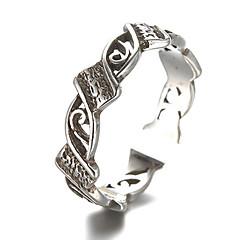 Ringe Mode / Justérbar Daglig / Afslappet Smykker Sølv Dame / Herre Midiringe / Båndringe 1pc,En størrelse Sølv