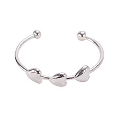 Silver Heart Cuff  Bangle Bracelet Jewelry