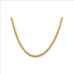 Dame Kædehalskæde Rustfrit Stål Guldbelagt 18K guld Mode Europæisk Smykker Til Daglig Afslappet