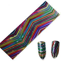 1pcs 100 * 4cm nail art overdracht glitterstickers diy geometrische magische kleur golf streep image nail art design cs05-08