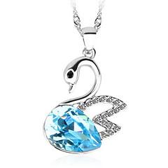 Dame Halskædevedhæng Vedhæng Krystal Dyreformet Svane Krystal Østrigsk krystal Mode luksus smykker Europæisk Smykker For Daglig Afslappet