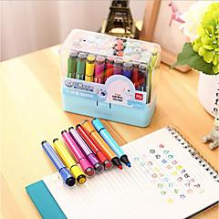 Children Nontoxic Washable Watercolor Pen 36 Hex Color Painting Graffiti Pen