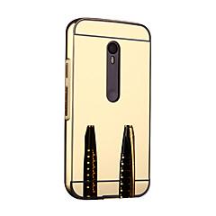 Voor Motorola hoesje Spiegel hoesje Bumper hoesje Effen kleur Hard Metaal Motorola Moto G3
