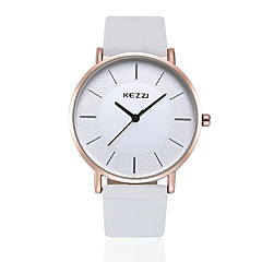 KEZZI Couple's Fashion Watch Casual Watch Quartz Japanese Quartz PU Band Casual Black White Brown