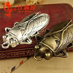 plata linda cigarra / bronce fijados pendiente de la aleación 20pcs
