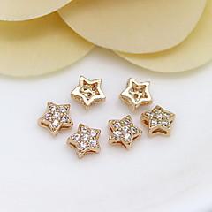 diy ékszer 24k arany mini csillag