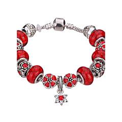Naisten Tyttöjen´ Amuletti-rannekorut Rannerenkaat Rannekkeet Strand Rannekorut Silver Bracelets KristalliKestävä Muoti Ihana Helmillä