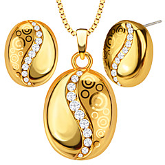 Pendants Metal / Crystal Round Shape Golden 50
