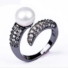 Black Pearl zircon ring opening