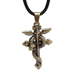 Wow - Bronze Snake Cross Necklace