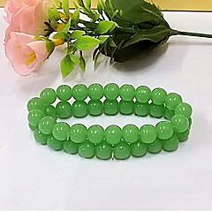 Dames Strand Armbanden Vintage Glas Ronde vorm Groen Sieraden Voor Dagelijks Causaal 1 stuks