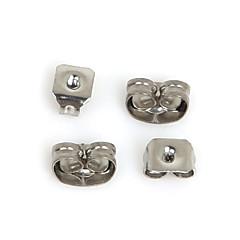 beadia 400pcs rozsdamentes acél fülbevaló earnuts füldugót ékszerek megállapítások fit nyaklánc&karkötő (vegyes 2 méretben)