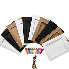 """5 """"10 pcs couleur aléatoire papier photo cadres"""