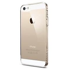 Per Custodia iPhone 5 Transparente Custodia Custodia posteriore Custodia Tinta unita Resistente PC iPhone SE/5s/5
