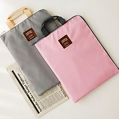 Fashion Simple Solid Color Large-Capacity Portable A4 Document Package (Random Colors)
