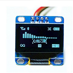 "0,96 ""tommer blå i2c IIC serie 128x64 OLED LCD LED display modul for Arduino 51 msp420 stim32 scr"