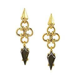 European Luxury Gem Geometric Earrrings Vintage Long Drop Earrings for Women Fashion Jewelry Best Gift