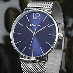 Unissex Relógio Elegante / Relógio de Moda / Relógio de Pulso Quartzo Japonês / Aço Inoxidável Banda Casual Prata marca