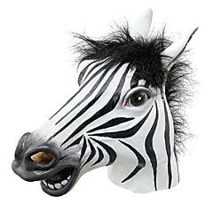 szórakoztató halloween maszk reális latex lófej / érdekes vicces party maskara maszk szilikon arc maszk zebra