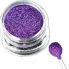 1 Bottle Nail Art Laser Charming Dark Purple Glitter Shining Powder Manicure Makeup Decoration Nail Beauty L14