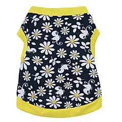 Gatos / Perros Camiseta Amarillo Verano Flores / Botánica Moda-Pething®, Dog Clothes / Dog Clothing