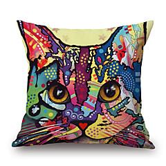 Cotton / Linen Pokrywa Pillow,Zwierząt Drukuj / Wzory graficzne Przypadkowy / Modern / Contemporary / Kraj