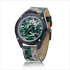 Hombre Reloj de Moda Cuarzo Resistente al Agua / Reloj Casual PU Banda Reloj de Pulsera Verde / Amarillo