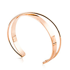 Golden Wave Cuff Bangle Bracelet Jewelry Set (6*7cm) Christmas Gifts