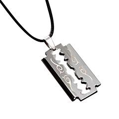 숨기기 로프와 티타늄 스틸 빈티지 목걸이 - 블레이드