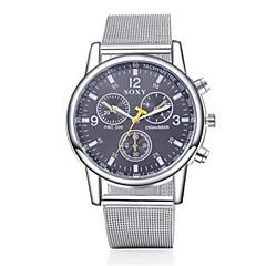 Masculino Relógio Elegante Quartz Relógio Casual Aço Inoxidável Banda Prata marca