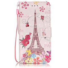 PU Leather Material 3D Painting Butterfly Tower Pattern Phone Case for  iPhone 6s Plus / 6 Plus/6S/6/SE / 5s / 5