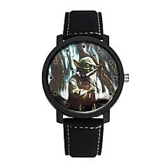 Student Watch Men Sport Watches Men Leather Star Wars Wristwatch Clock Hours Quartz Watches Cool Watch Unique Watch