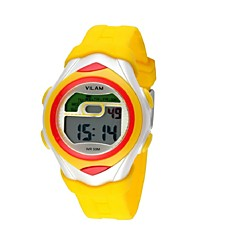 Children's Multi-Functional Round Dial LCD Digital Wrist Watch 50m Waterproof (Assorted Colors) Cool Watches
