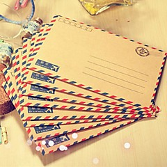 Korea Cute Retro Aviation Envelope Paragraph Long Paragraph Western Postcards Storage Envelopes 1Pc