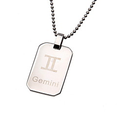 Necklace Pendant Necklaces / Pendants Jewelry Daily / Casual Fashion Stainless Steel Silver 1pc Gift