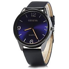 Heren Modieus horloge / Polshorloge Kwarts / PU Band Vrijetijdsschoenen Zwart / Blauw / Rood Merk