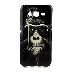 Smoking Monkey Pattern Hard Cover for iPhone 6s 6 Plus