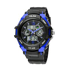 VILAM Sports Watches Digital LED Quartz Dual Display Wristwatches Rubber Strap Relogio