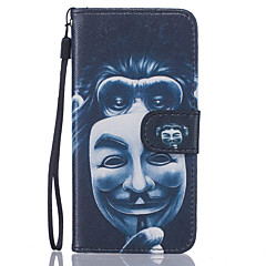 Monkey Pattern PU Leather Full Body Case with Stand for iPhone7 6sPlus 6Plus 6S 6