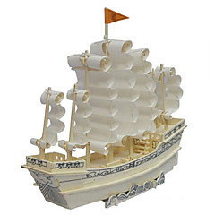 Jigsaw Puzzles 3D Puzzles / Wooden Puzzles Building Blocks DIY Toys Ship Wood Beige Model & Building Toy
