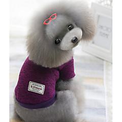 Perros Suéteres Rojo / Verde / Morado Ropa para Perro Invierno Un Color Mantiene abrigado