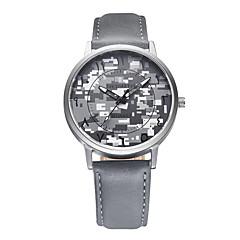 REBIRTH® Men's Camouflage Fashion Dial PU Leather Strap Quartz Casual Watch Dress Watch Wrist Watch