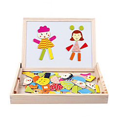 trä barn stava le magnetiska dubbelsidig ritbordet pussel magiska styrelse