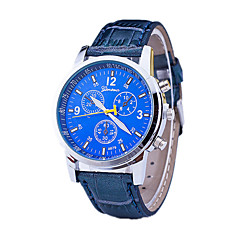 Three Swiss Men's Casual Fashion Leather Belt Quartz Watch