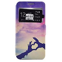 Varten Samsung Galaxy kotelo Korttikotelo / Iskunkestävä / Pölynkestävä / Tuella Etui Kokonaan peittävä Etui Sydän Pehmeä Tekonahka