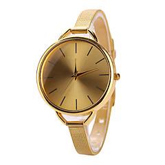 Mulheres Relógio de Moda Quartz Relógio Casual Aço Inoxidável Banda Prata / Dourada marca-