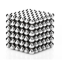 Magnet Toys 216Pcs 3mm Magnet Toys / Neodymium Magnet Executive Toys Puzzle Cube DIY Toys Magnetic Balls Silver Education Toys For Gift