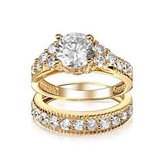 Anéis Fashion Casamento / Pesta Jóias Liga / Zircão Feminino Anéis Statement 1pç,6 / 7 / 8 / 9 / 10 Prateado