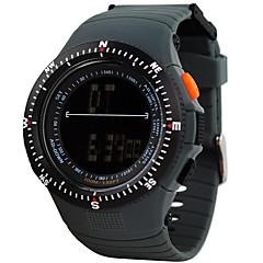 Sport Watch Herr / Damers / Unisex LCD / Höjdmätare / Compass / Pulsmätare / Termometer / Kalender / Dubbel tidszon / Sportsklocka Digital