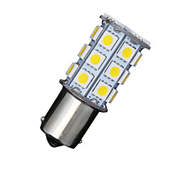 2 X Car RV Warm White 1156 BA15S 27-SMD 5050 Turn Signal Reverse LED Light bulbs